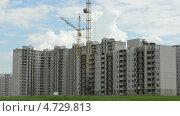 Строительство нового много квартирного комплекса в Подмосковье. Time lapse (2013 год). Стоковое видео, видеограф Soft light / Фотобанк Лори