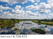 Купить «Река Кама, в Уральской степи», фото № 4734973, снято 25 июля 2012 г. (c) Анатолий Типляшин / Фотобанк Лори