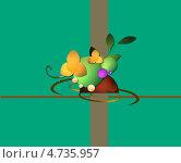 Зеленая лужайка. Стоковая иллюстрация, иллюстратор Поздеева Наталья / Фотобанк Лори