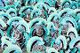 Танцоры в голубых костюмах на карнавале в Самбодромо в Рио-де-Жанейро 11 февраля 2013 г., Бразилия, фото № 4742341, снято 11 февраля 2013 г. (c) Михаил Мандрыгин / Фотобанк Лори