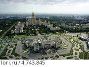 Панорама - МГУ (2012 год). Стоковое фото, фотограф Дмитрий Бакулин / Фотобанк Лори