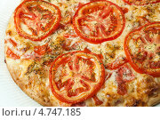 Купить «Пицца с помидорами», фото № 4747185, снято 12 июня 2013 г. (c) Александр Калугин / Фотобанк Лори