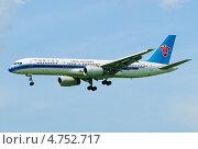 """Купить «""""Boeing-757"""" (бортовой B-2812) авиакомпании China Southern на посадке в Шереметьево», эксклюзивное фото № 4752717, снято 8 июня 2013 г. (c) Alexei Tavix / Фотобанк Лори"""
