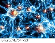 Купить «Нейроны под микроскопом», фото № 4754753, снято 14 декабря 2018 г. (c) Sergey Nivens / Фотобанк Лори