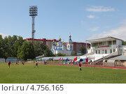 """Стадион """"Труд"""" города Миасса (2013 год). Редакционное фото, фотограф Виталий Горелов / Фотобанк Лори"""