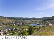 Купить «Село Ширяево, вид сверху», фото № 4757093, снято 15 июня 2013 г. (c) Дудакова / Фотобанк Лори