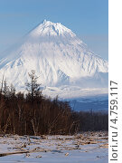 Купить «Камчатка. Вулкан Камень», фото № 4759117, снято 7 декабря 2012 г. (c) А. А. Пирагис / Фотобанк Лори