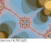 Купить «Декоративный фрактал на сером  фоне», иллюстрация № 4761621 (c) Astronira / Фотобанк Лори