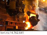 Купить «Чугунолитейные ковши в конвертерном цехе металлургического завода», фото № 4762641, снято 27 июля 2011 г. (c) Кекяляйнен Андрей / Фотобанк Лори
