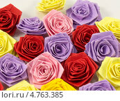 Цветы из бумаги в технике квиллинг. Стоковое фото, фотограф Ольга Деева / Фотобанк Лори