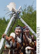Купить «Женщины в национальных костюмах аборигенов Камчатки», фото № 4765121, снято 15 июня 2013 г. (c) А. А. Пирагис / Фотобанк Лори