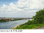 Купить «Вид на заречную часть Нижнего Новгорода», фото № 4774249, снято 7 июня 2013 г. (c) Александр Романов / Фотобанк Лори