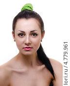 Купить «Девушка с обнаженными плечами и прической хвостик», фото № 4779961, снято 17 марта 2013 г. (c) Алексей Сергеев / Фотобанк Лори