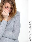 Купить «Молодая девушка плачет», фото № 4782873, снято 13 января 2011 г. (c) Phovoir Images / Фотобанк Лори