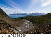 Купить «Ручеек реки в горах Норвегии», фото № 4784569, снято 10 июля 2012 г. (c) Сергей Александров / Фотобанк Лори