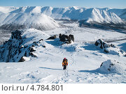 Купить «Альпинист на восхождении», фото № 4784801, снято 3 апреля 2010 г. (c) Сергей Бойков / Фотобанк Лори
