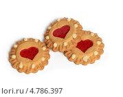 Печенье на белом фоне. Стоковое фото, фотограф Алексей Турилов / Фотобанк Лори