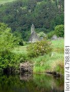 Купить «Древняя церковь Сант Кевин в Glendalough, Горы Уиклоу, Ирландия», фото № 4788881, снято 20 июня 2013 г. (c) Татьяна Кахилл / Фотобанк Лори