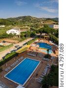 Вид из гостиничного номера отеля Президент, Калелья, Испания. Стоковое фото, фотограф Марат Сабиров / Фотобанк Лори