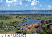 Летний речной пейзаж. Стоковое фото, фотограф Анатолий Уткин / Фотобанк Лори