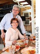 Купить «Пожилые супруги за ужином», фото № 4808465, снято 14 января 2010 г. (c) Phovoir Images / Фотобанк Лори