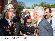 Купить «Ветераны 9 мая 2013 года», эксклюзивное фото № 4810341, снято 9 мая 2013 г. (c) Михаил Ворожцов / Фотобанк Лори