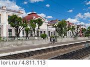 Купить «Чита. Забайкальский край. Здание железнодорожного вокзала», эксклюзивное фото № 4811113, снято 12 июня 2013 г. (c) Lora / Фотобанк Лори