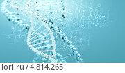 Купить «Геном человека. Молекула дезоксирибонуклеиновой кислоты», фото № 4814265, снято 19 октября 2019 г. (c) Sergey Nivens / Фотобанк Лори
