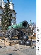 Купить «Царь-пушка в Московском Кремле», фото № 4825897, снято 17 апреля 2013 г. (c) Геннадий Соловьев / Фотобанк Лори