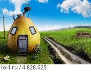 Купить «Груша в форме в дома с аистом», фото № 4828625, снято 6 декабря 2019 г. (c) Сергей Телеш / Фотобанк Лори