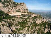 Гора Монсеррат, монастырь Монсеррат, Каталония, Испания. Стоковое фото, фотограф Алексей Лугинин / Фотобанк Лори