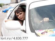 Купить «Молодая девушка за рулем автомобиля», фото № 4830777, снято 7 июля 2013 г. (c) Момотюк Сергей / Фотобанк Лори