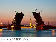Купить «Санкт-Петербург, разведенный Дворцовый мост», фото № 4831789, снято 29 июня 2013 г. (c) Юлия Бабкина / Фотобанк Лори