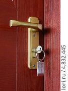 Купить «Ручка двери», фото № 4832445, снято 19 июля 2010 г. (c) Николай Комаровский / Фотобанк Лори