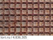 Текстура старой металлической плиты. Стоковое фото, фотограф Игорь Долгов / Фотобанк Лори