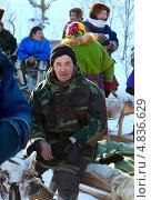 Купить «Мужчина ханты на празднике оленевода», фото № 4836629, снято 25 февраля 2012 г. (c) Владимир Мельников / Фотобанк Лори