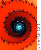 Купить «Красная фрактальная спираль для дизайна», иллюстрация № 4849313 (c) Astronira / Фотобанк Лори