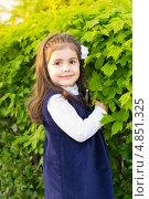 Девочка в синем сарафане. Стоковое фото, фотограф Татьяна Фролова / Фотобанк Лори