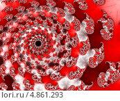 Купить «Абстрактный фрактальный фон в красных тонах», иллюстрация № 4861293 (c) Astronira / Фотобанк Лори