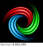 Вихрь. Разноцветные световые линии на черном фоне. Стоковая иллюстрация, иллюстратор Dvarg / Фотобанк Лори