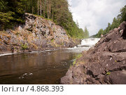 Водопад Кивач. Стоковое фото, фотограф Мария Семечкова / Фотобанк Лори