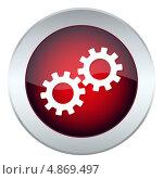 Купить «Кнопка с изображением механизмов», иллюстрация № 4869497 (c) Мастепанов Павел / Фотобанк Лори