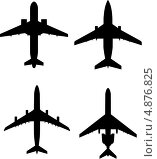 Силуэты самолетов. Стоковая иллюстрация, иллюстратор Багова Маргарита / Фотобанк Лори