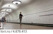 Купить «Станция метро в Москве, таймлапс», видеоролик № 4878413, снято 21 июля 2013 г. (c) Кирилл Трифонов / Фотобанк Лори