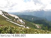 Горные пейзажи Западного Кавказа (2010 год). Стоковое фото, фотограф Чернова Анна / Фотобанк Лори