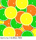 Купить «Фон из цитрусовых фруктов», иллюстрация № 4892789 (c) Мастепанов Павел / Фотобанк Лори