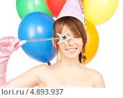 Купить «Счастливая девушка в образе феи с волшебной палочкой», фото № 4893937, снято 4 октября 2009 г. (c) Syda Productions / Фотобанк Лори