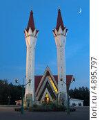 Мечеть ляля-тюльпан вечером (2013 год). Стоковое фото, фотограф Владислав Серкин / Фотобанк Лори