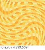 Абстрактный желтый фон с волнистыми линиями. Стоковая иллюстрация, иллюстратор Marina Shipilova / Фотобанк Лори