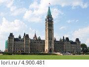 Купить «Центральный блок Парламента, Оттава, Канада», фото № 4900481, снято 25 августа 2012 г. (c) Виктор Лазаренко / Фотобанк Лори